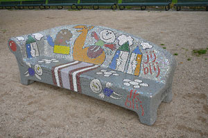 Mosaic Outdoor Couch