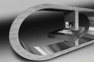 Curved Steel Furniture Mockup